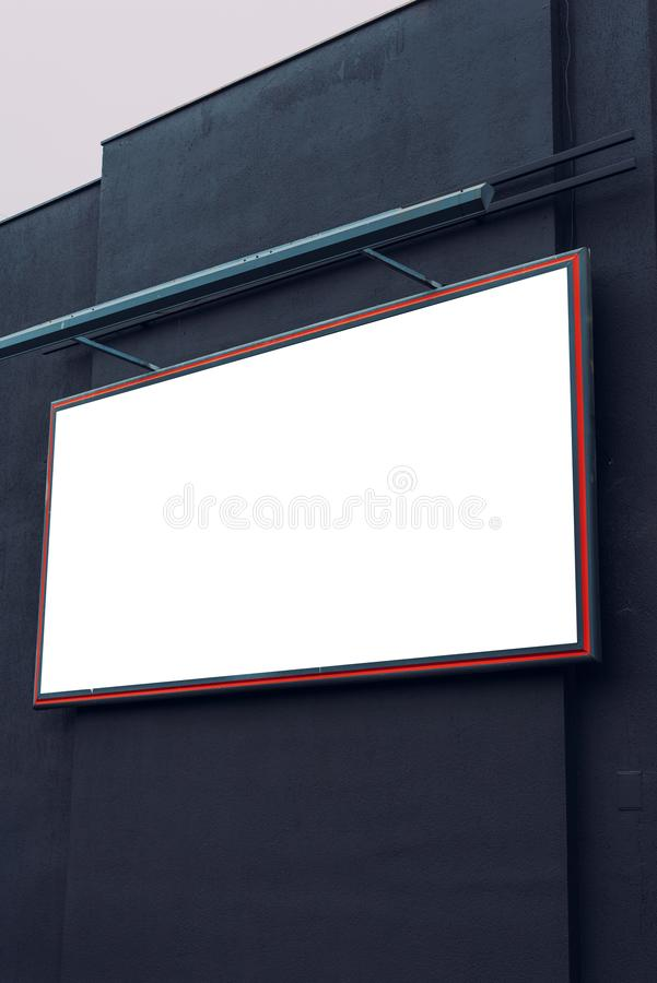 Blank advertising city billboard poster copy space. On urban building for graphic design mock up royalty free stock image