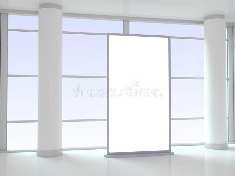 Blank Advertising Panel in Office royalty free stock images