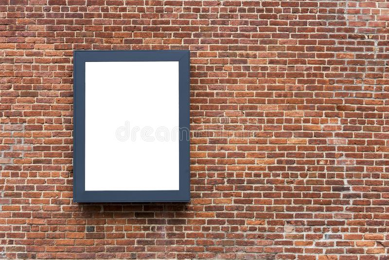 Blank advertising poster board stock image