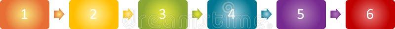 blank affärsdiagramadministration royaltyfri illustrationer