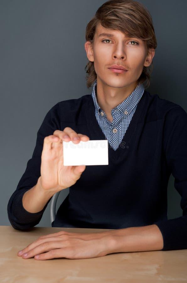 blank affärsholdingman fotografering för bildbyråer