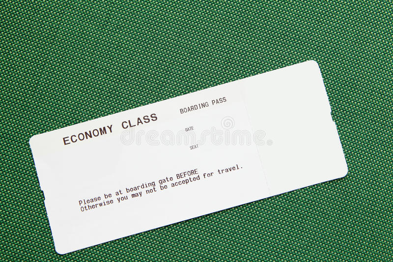 Blank airline boarding pass royalty free stock photography