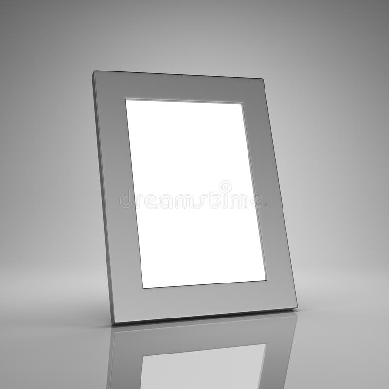 Blank Aluminum Photo Frame Stock Photography