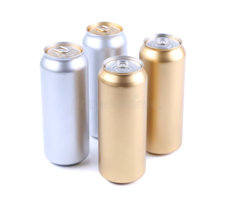 Blank aluminum soda can royalty free stock photos