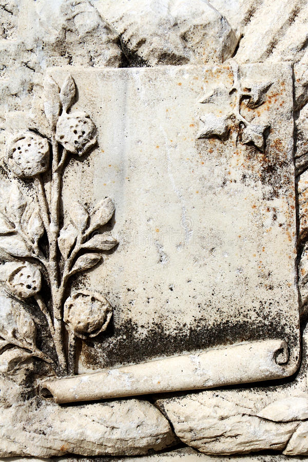 Blank Ancient Stone In Ephesus stock images