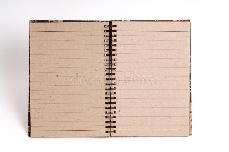 blank anteckningsbok fotografering för bildbyråer