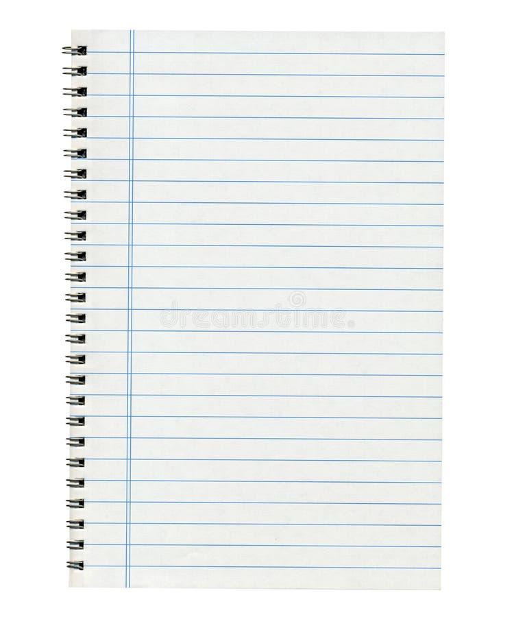 blank anteckningsboken arkivbild