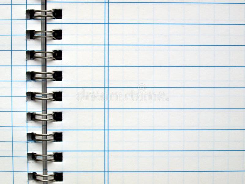 blank anteckningsboksida royaltyfri foto