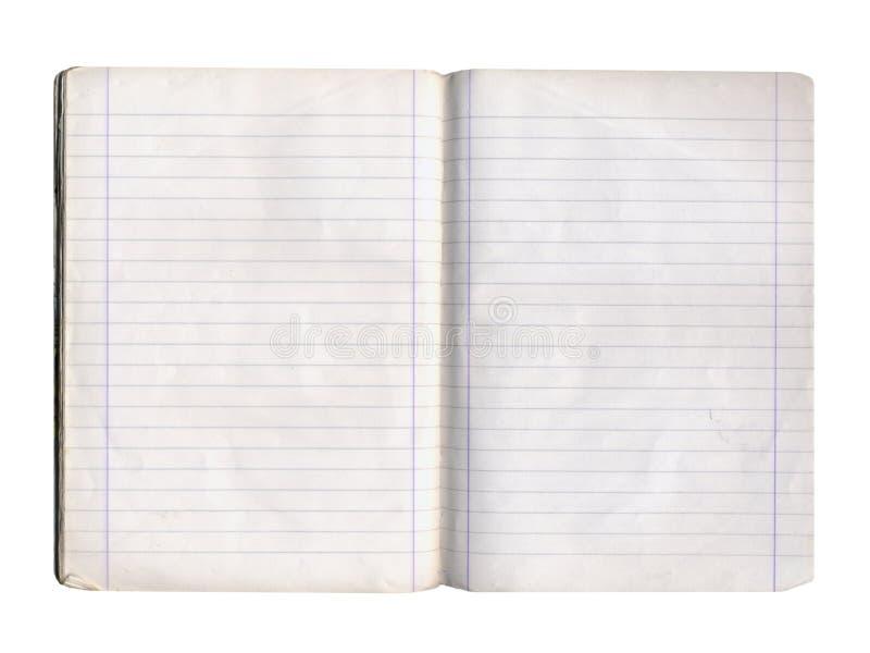 blank anteckningsboksida royaltyfria foton