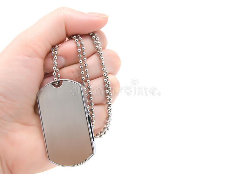 Download Blank army dog tags stock image. Image of heroes, aluminum - 12784423