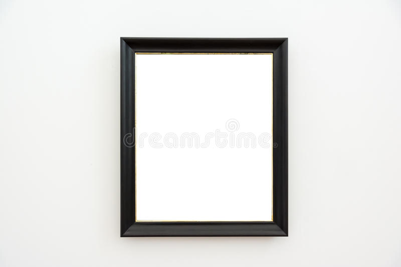 Blank Art Museum Isolated Painting Frame Decoration Indoors Wall. White Template royalty free stock photo