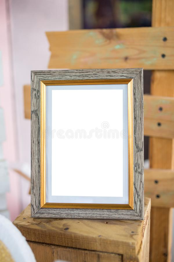 Blank Art photo Frame Decoration Indoors Wall, stock images