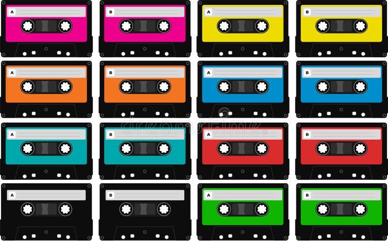 Download Blank audio tape cassettes stock illustration. Illustration of funky - 12421501