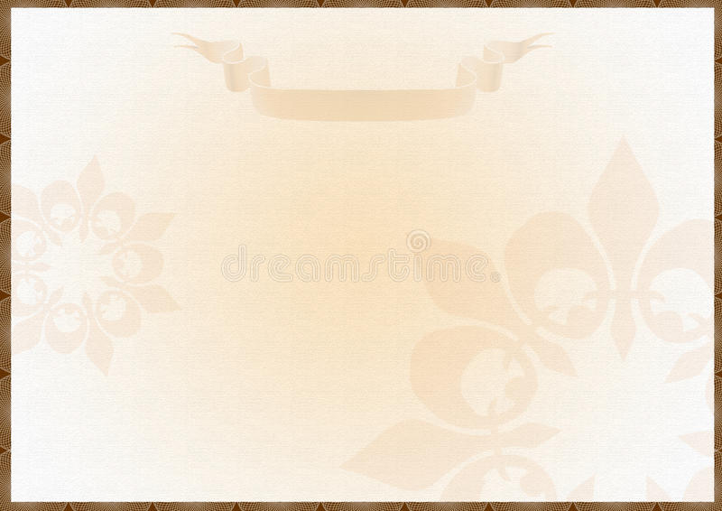 Download Blank Award Certificate stock illustration. Image of course - 16348205