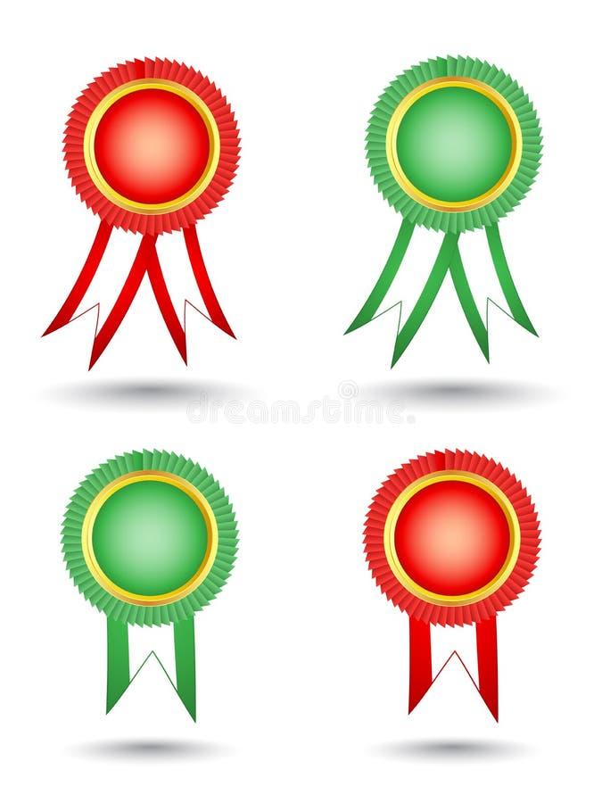 Download Blank Award Ribbon Rosettes Stock Vector - Illustration: 23757928
