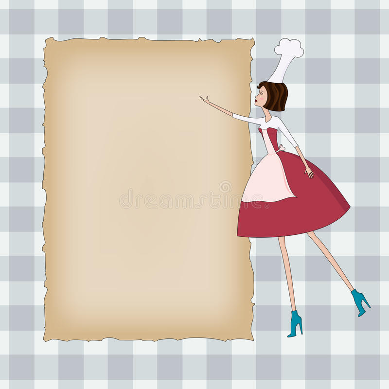 Blank background with a chef royalty free illustration