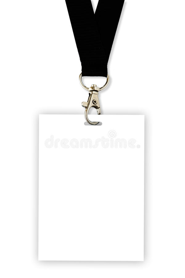 Download Blank Badge With Black Neckband Stock Image - Image: 20339921