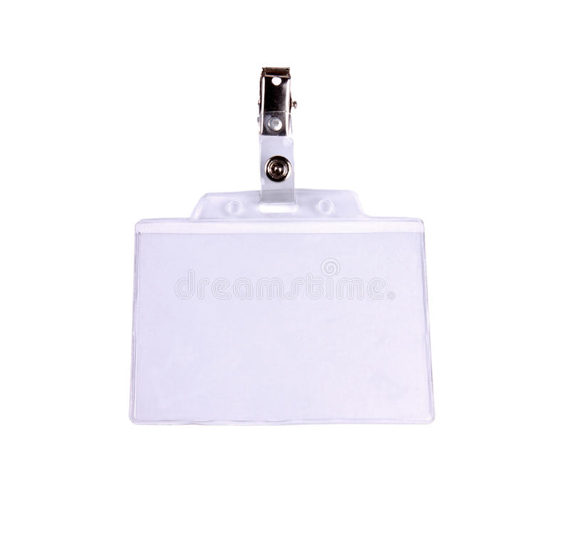 Download Blank badge/ ID card stock image. Image of name, authority - 12257107