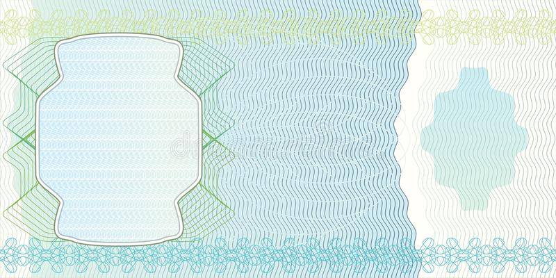 Blank banknote layout stock illustration
