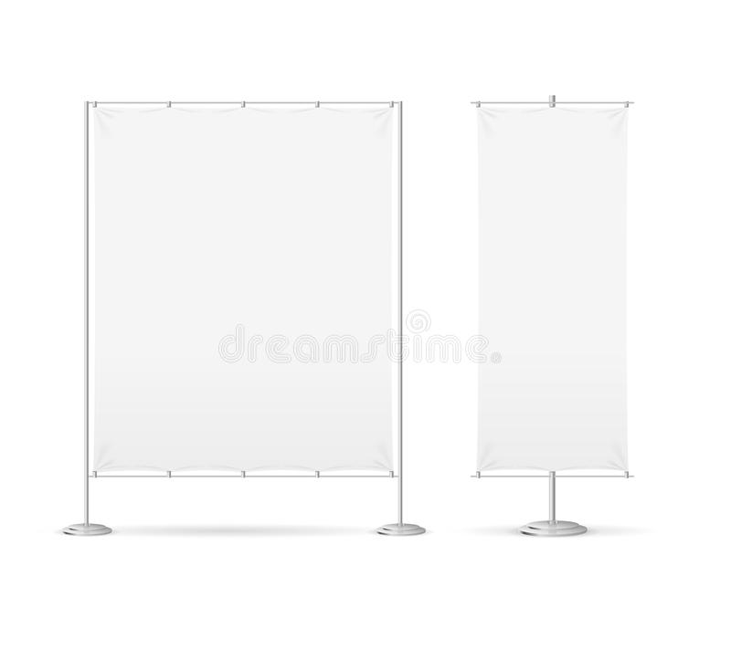 Blank Banner Billet Press Wall Set. Vector. Blank Banner Billet Press Wall Set Empty Mock Up Wide and Narrow. of Template Banners for Advertising vector illustration