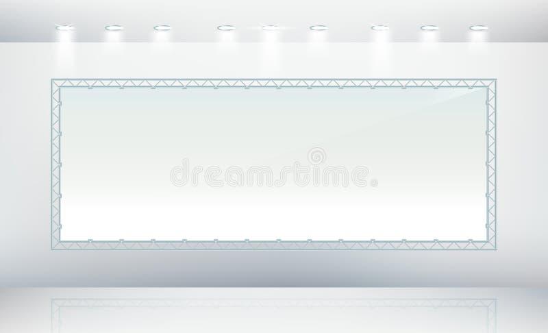 Blank banner canvas vector illustration