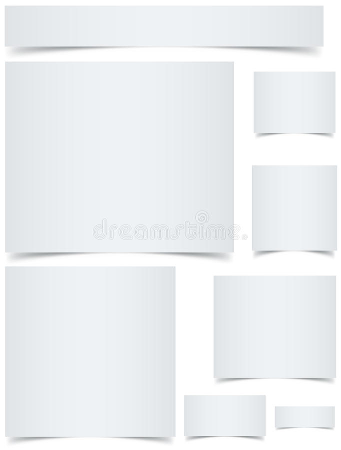 Blank Banners With Curled Edges Stock Image