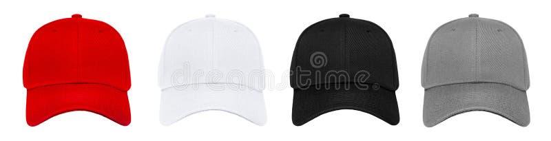 Blank baseball cap 4 color set stock photography