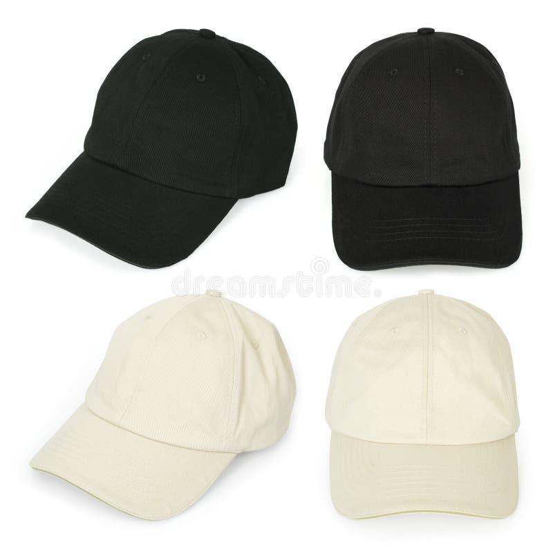 Blank baseball caps stock images