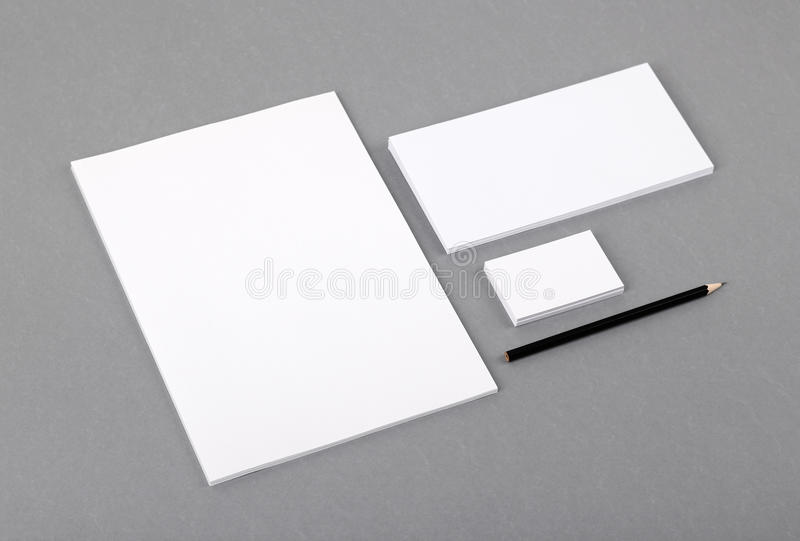 Blank basic stationery letterhead flat business card envelope letterhead flat business card envelope stock photo image cheaphphosting Choice Image