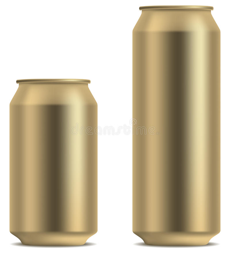 Blank beer can royalty free illustration