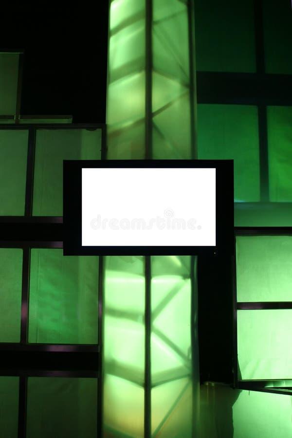 blank bildskärmpresentation royaltyfria bilder