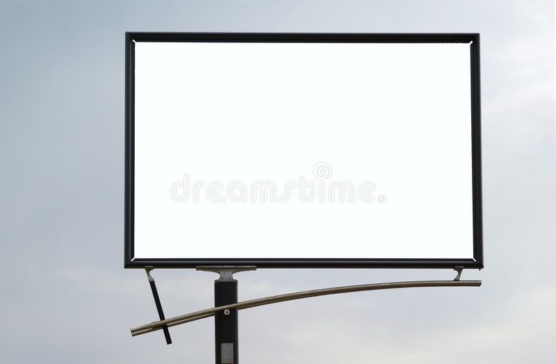 Download Blank Billboard stock photo. Image of customizable, message - 3646756
