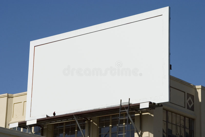 Blank Billboard 4 royalty free stock image