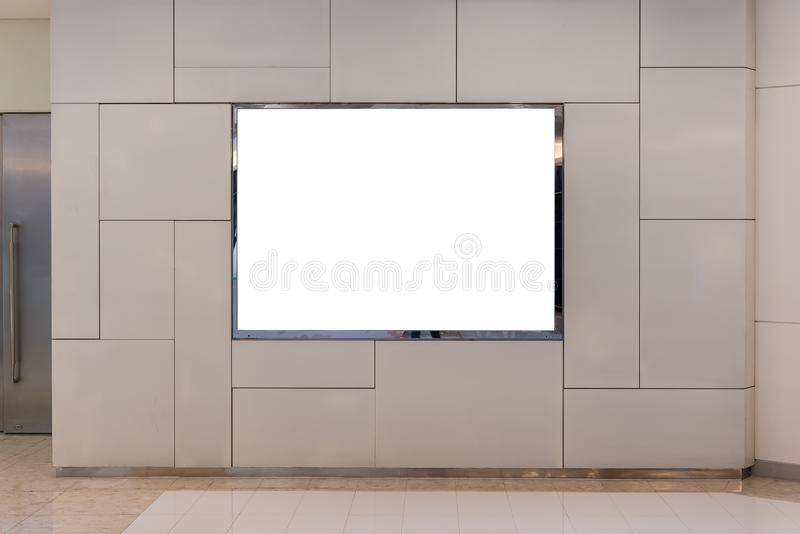 Blank billboard for advertising poster. Or blank billboard banner on wall stock photos