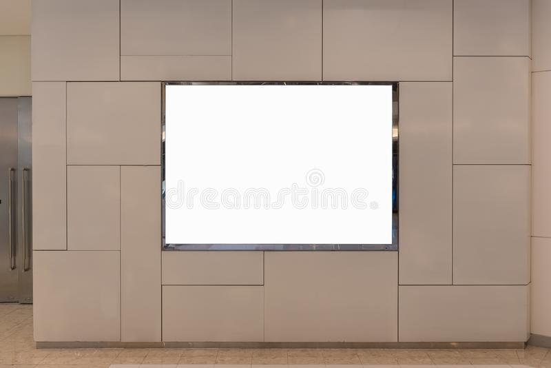 Blank billboard for advertising poster. Or blank billboard banner on wall royalty free stock image