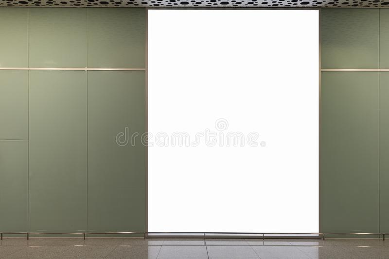 Blank billboard for advertising poster. Or blank billboard banner on wall stock image