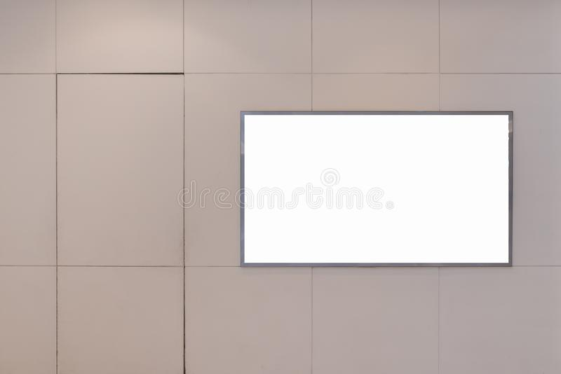 Blank billboard for advertising poster. Or blank billboard banner on wall stock photography