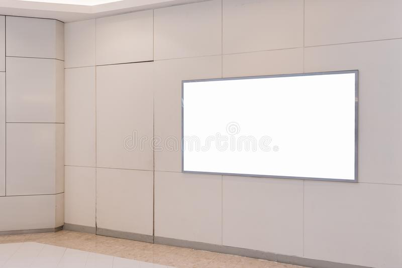 Blank billboard for advertising poster. Or blank billboard banner on wall royalty free stock photography