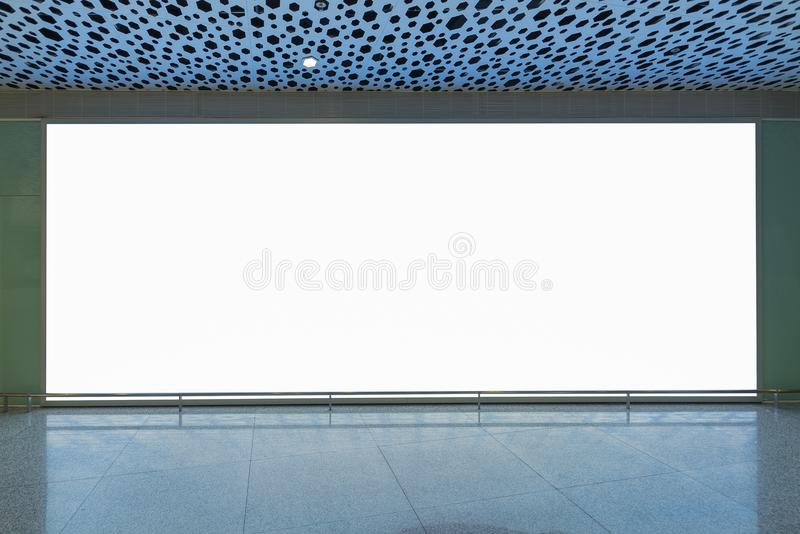 Blank billboard for advertising poster or blank billboard banner. On wall stock photography