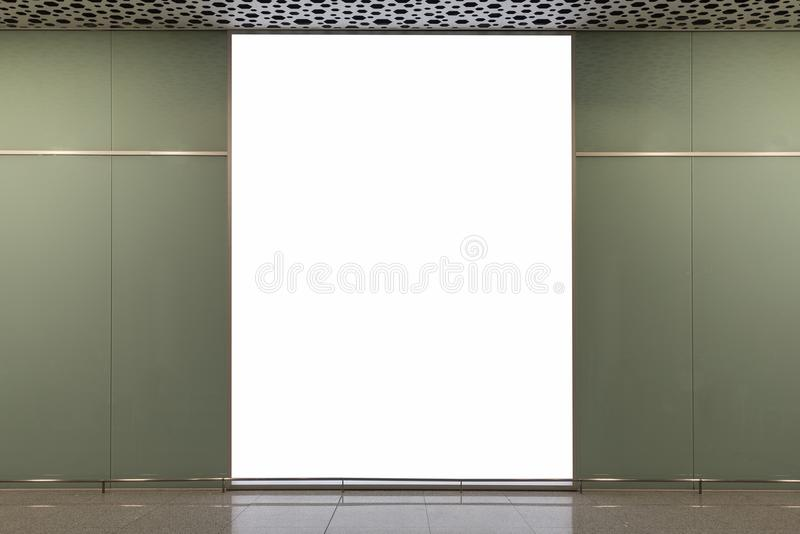 Blank billboard for advertising poster. Or blank billboard banner on wall royalty free stock photo
