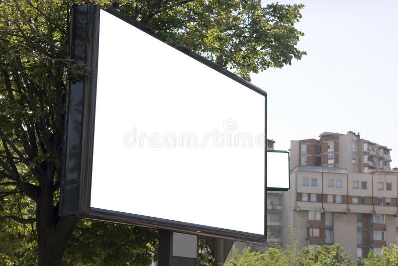 Blank billboard in city royalty free stock photo