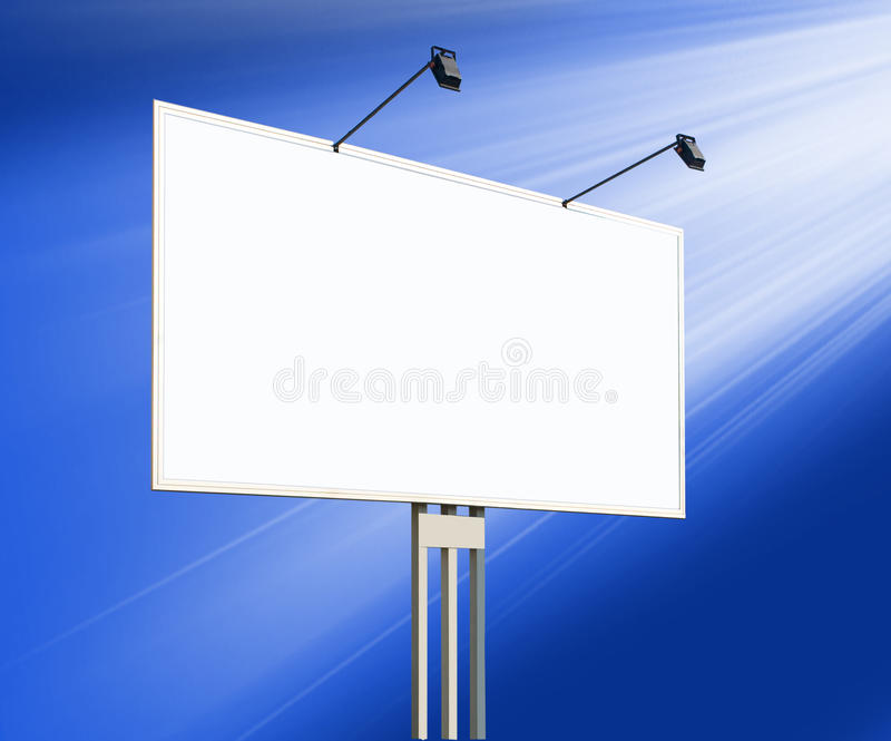 Download Blank Billboard On The City Street Stock Photo - Image of copy, grass: 21900482
