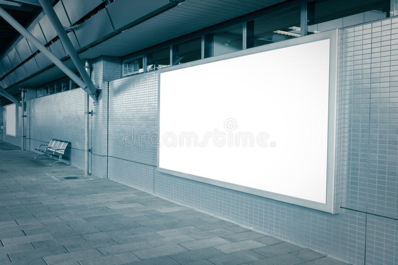 Blank Billboard With Empty Copy Space Stock Photos