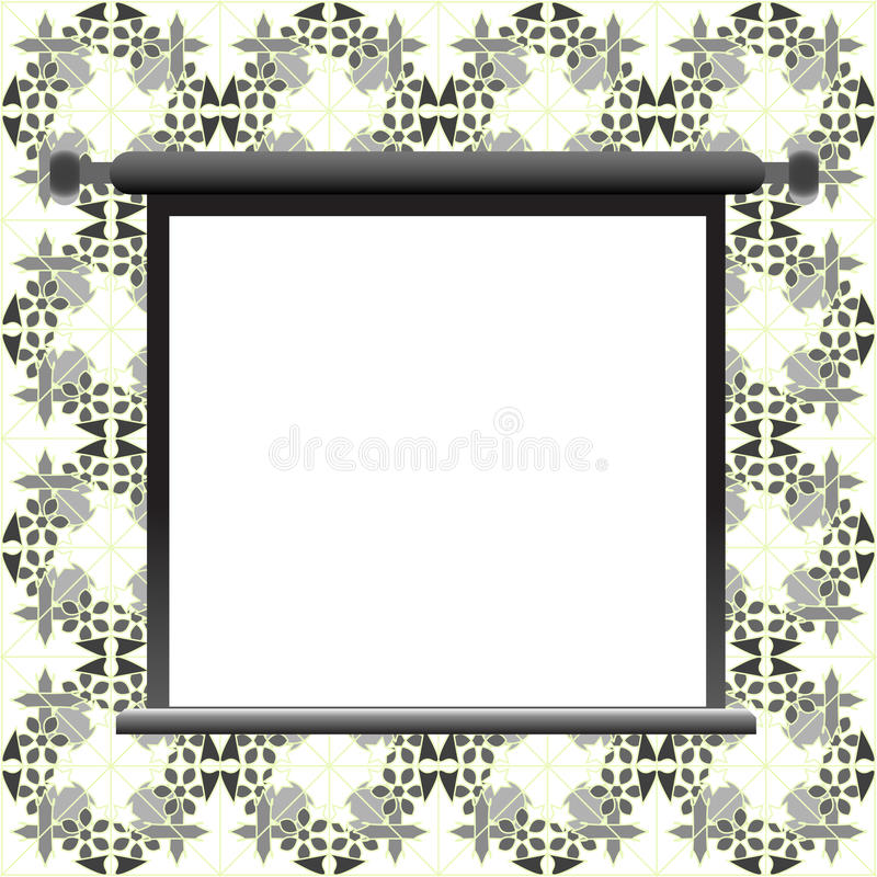 Download Blank Billboard On Floral Wall Royalty Free Stock Photos - Image: 24445518
