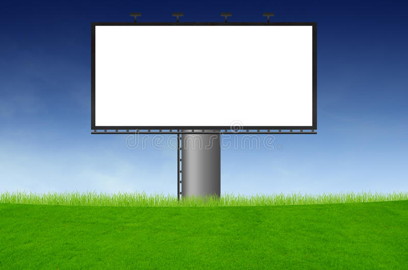 Download Blank Billboard On Green Field Stock Image - Image: 22059057