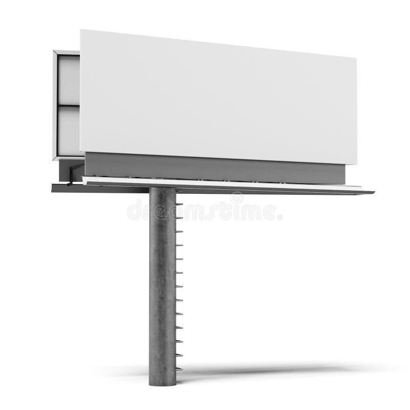 Blank billboard isolated vector illustration