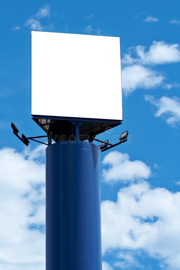 Blank billboard, just add your text royalty free stock photo