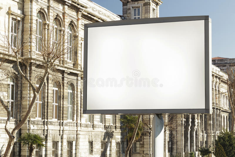Blank billboard. Many billboard is seen in almost every district of Istanbul stock photo