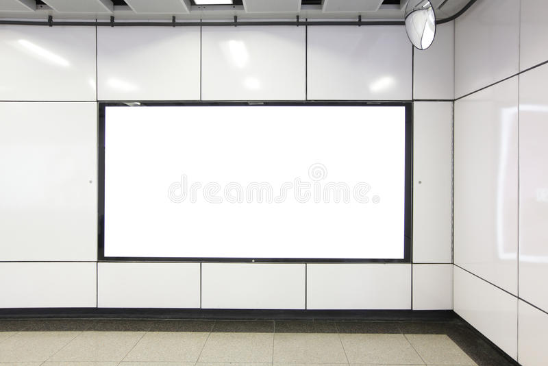 Blank Billboard in metro subway station. Shot in asia, hong kong, great for your copy space stock images