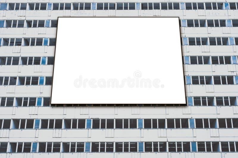 Blank billboard mock-up on building facade, banner mockup stock photos
